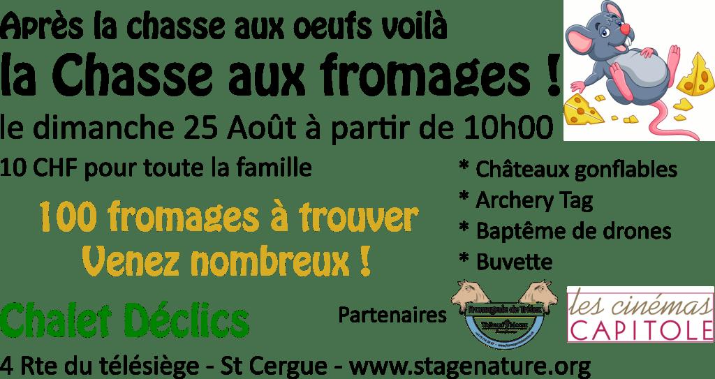Chasse aux fromages - 25 Août 2019 @ Chalet Déclics